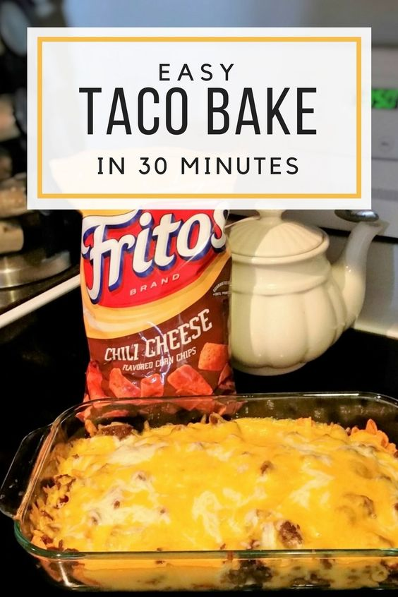 Easy Taco Bake in 30 minutes #recipes #pastarecipes #easypastarecipes #food #foodporn #healthy #yummy #instafood #foodie #delicious #dinner #breakfast #dessert #lunch #vegan #cake #eatclean #homemade #diet #healthyfood #cleaneating #foodstagram