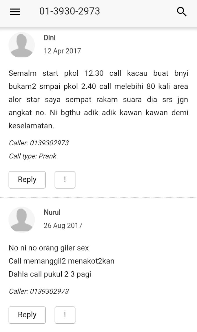 Jangan Angkat Nombor Telefon 0139302973