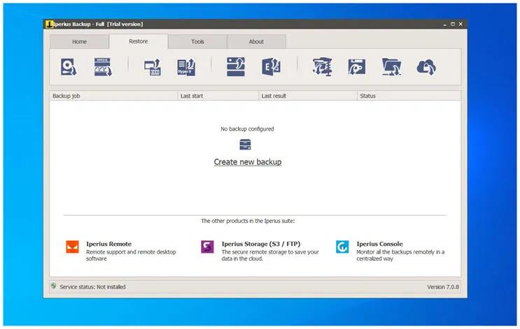 Iperius Backup Free  :  Δωρεάν λογισμικό δημιουργίας αντιγράφων ασφαλείας για τα Windows