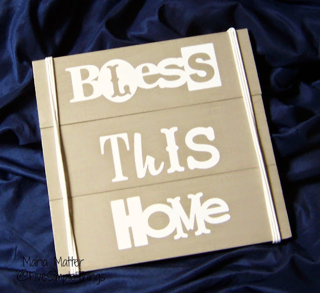 simple Bless This Home vinyl sign