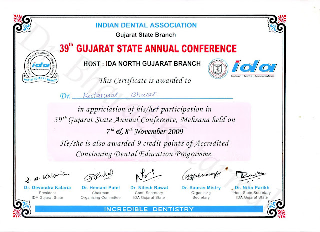39th Gujarat State Annual Dental Conference 2009 Mehsana