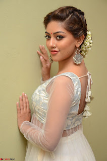 Anu Emmanuel in a Transparent White Choli Cream Ghagra Stunning Pics 051.JPG
