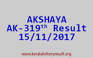 AKSHAYA Lottery AK 319 Results 15-11-2017