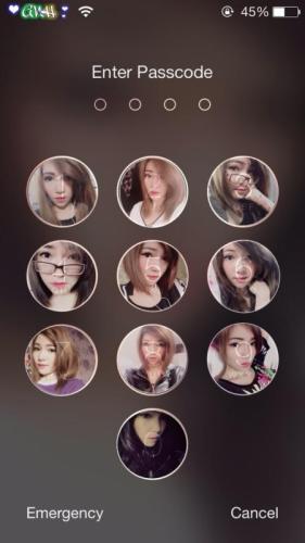 Hình nền mở khóa điện thoại với các hot girl