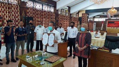 Bupati Batanghari Terima WTP dari BPK-RI atas LKPD tahun 2019
