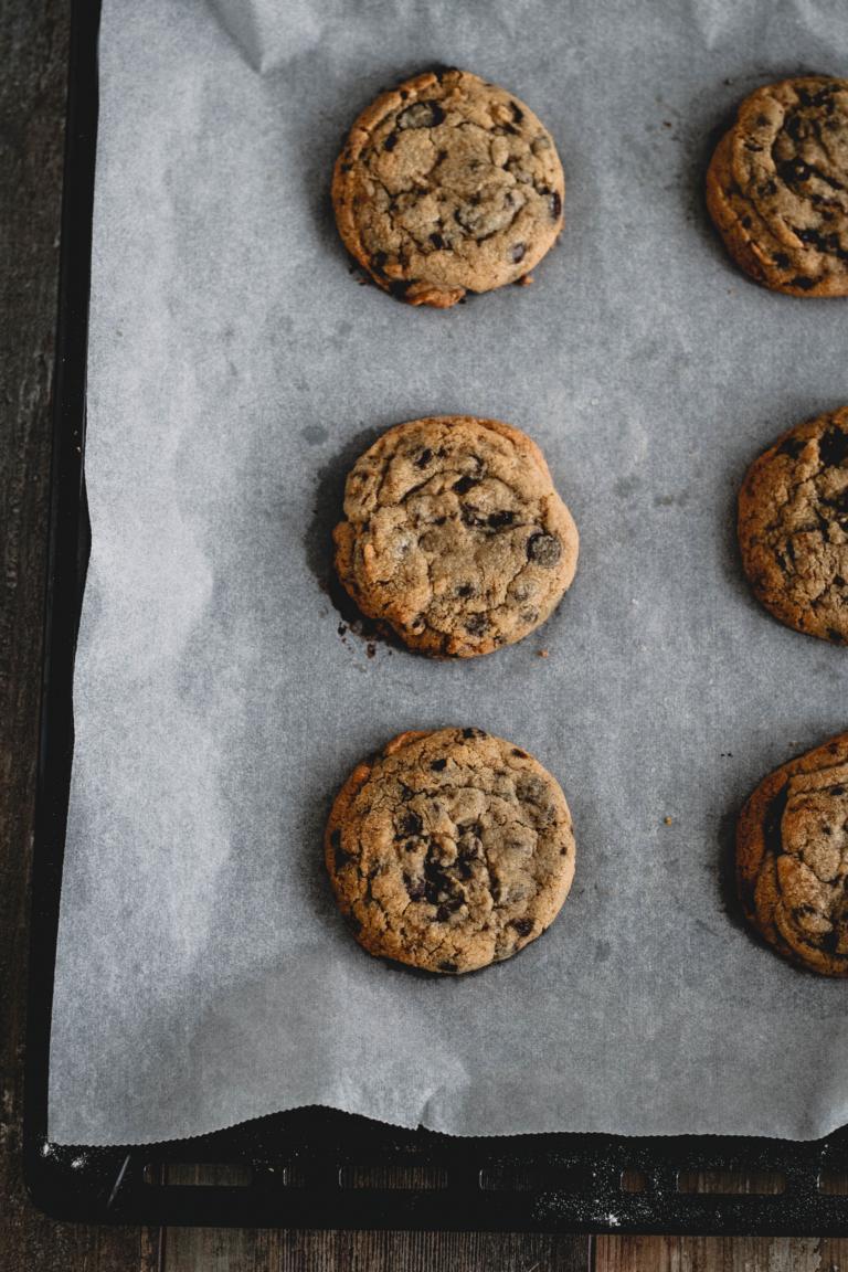 Fertig gebackene Cookies von oben