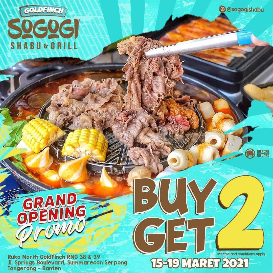 SOGOGI Shabu Summarecon Serpong Opening Promo BELI 2 GRATIS 2