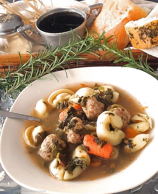 Italian Wedding Style Tortellini  Soup