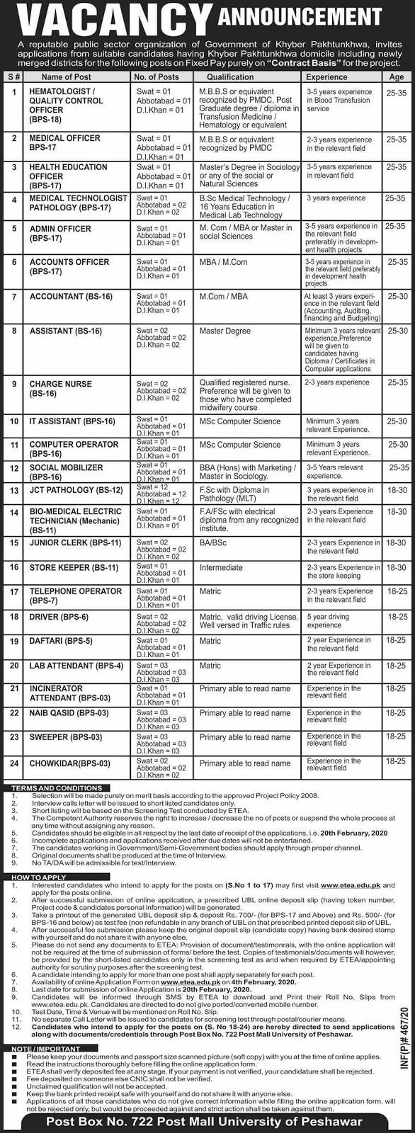 Public Sector Organization Jobs Feb 2020