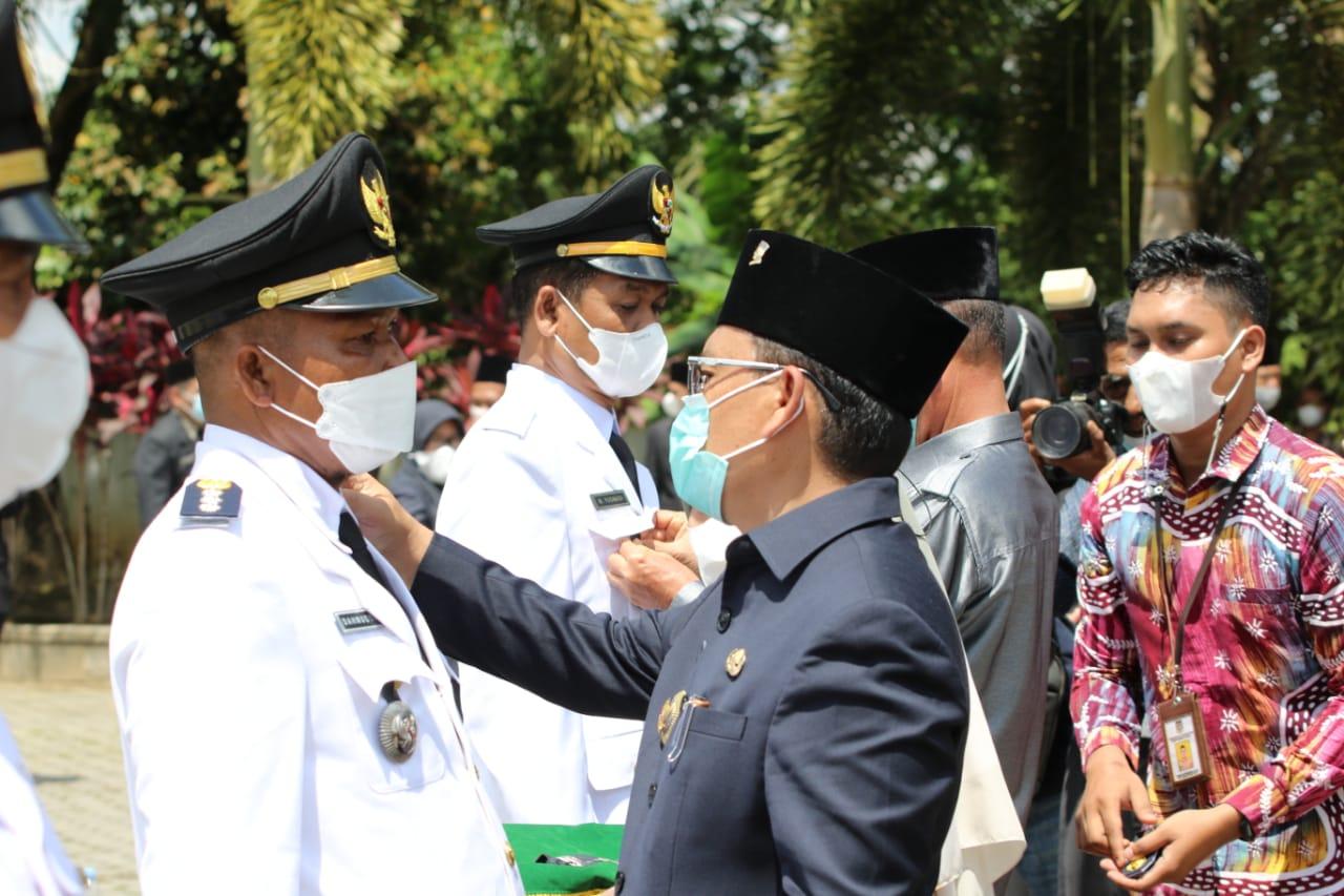 Proses pelantikan eselon III dan eselon IV Pemerintahan Kabupaten Musi Rawas Utara. (Poto/Ist)