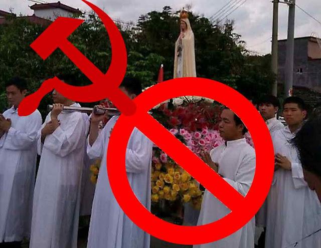 A procissão do Mês de Maria não pode ser realizada em Shantou, província de Guangdong (ex-Cantão)