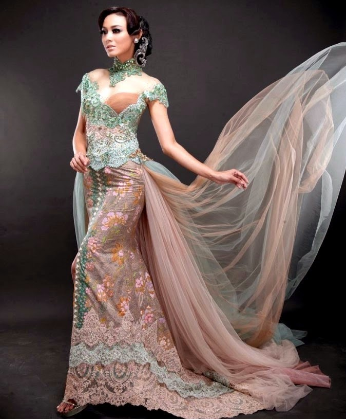 model-gaun-pesta-kebaya