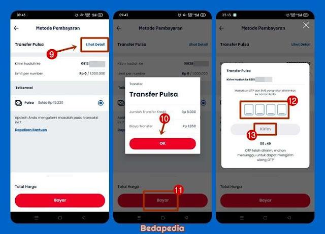 transfer pulsa simpati As Loop via aplikasi