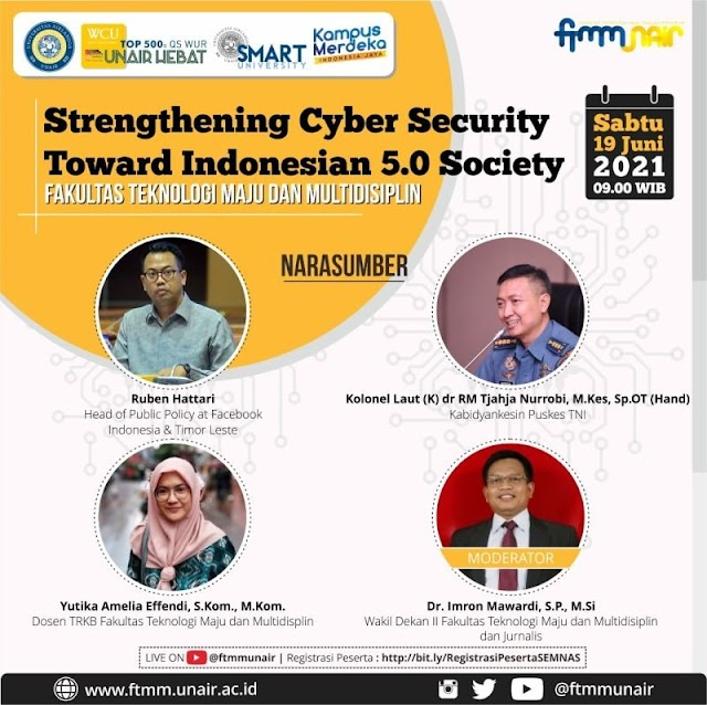 Seminar Nasional: Strengthening Cyber Security Toward Indonesian 5.0 Society