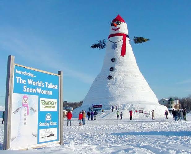Betel, Maine manusia salju terbesar