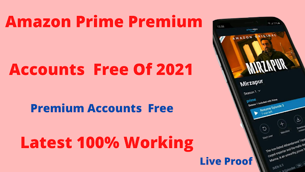 AMAZON PRIME  FREE PREMIUM ACCOUNT USERNAME AND PASSWORD DECEMBER 2021 - 100% WORKING