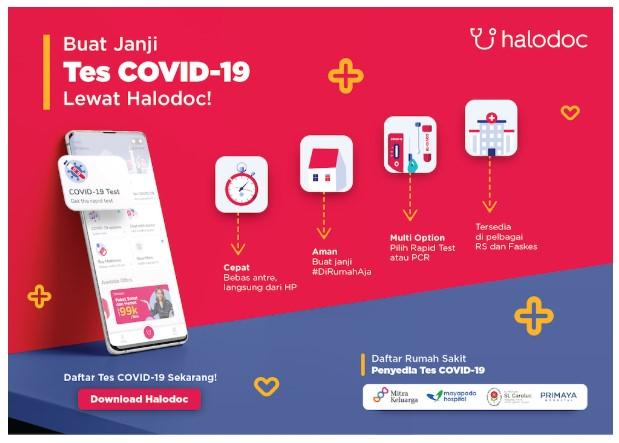 Cari Tahu Terpapar Virus Covid-19, Akses Layanan Rapid Test Halodoc