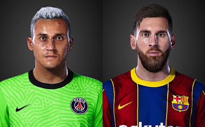 PES 2021 Faces Keylor Navas (White Hair) & Lionel Messi by LR7