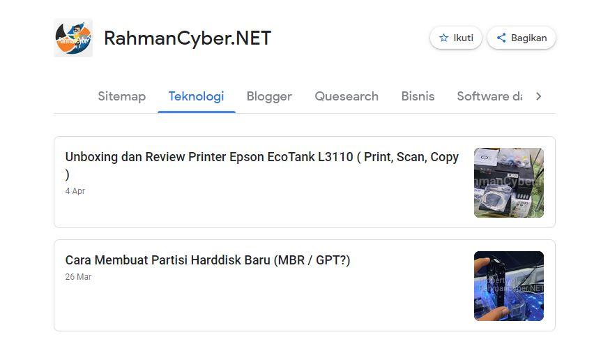 Source Artikel dari URL Kategori di Google News