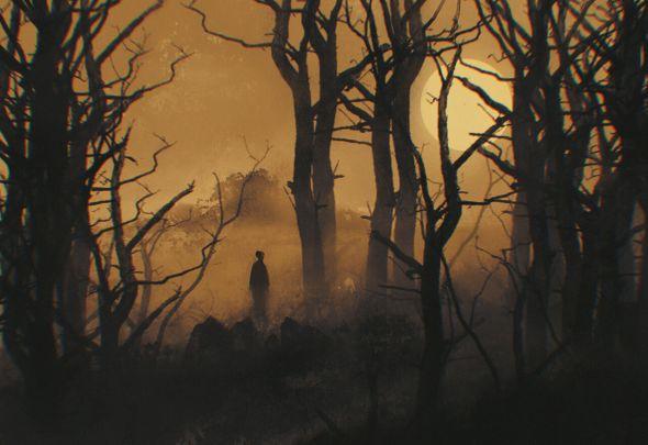 Reza Afshar artstation deviantart arte ilustrações fantasia ficção sombrio cenários ambientes
