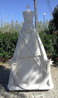 Virgen de Piedra obra de D. Ramón Pérez Melero