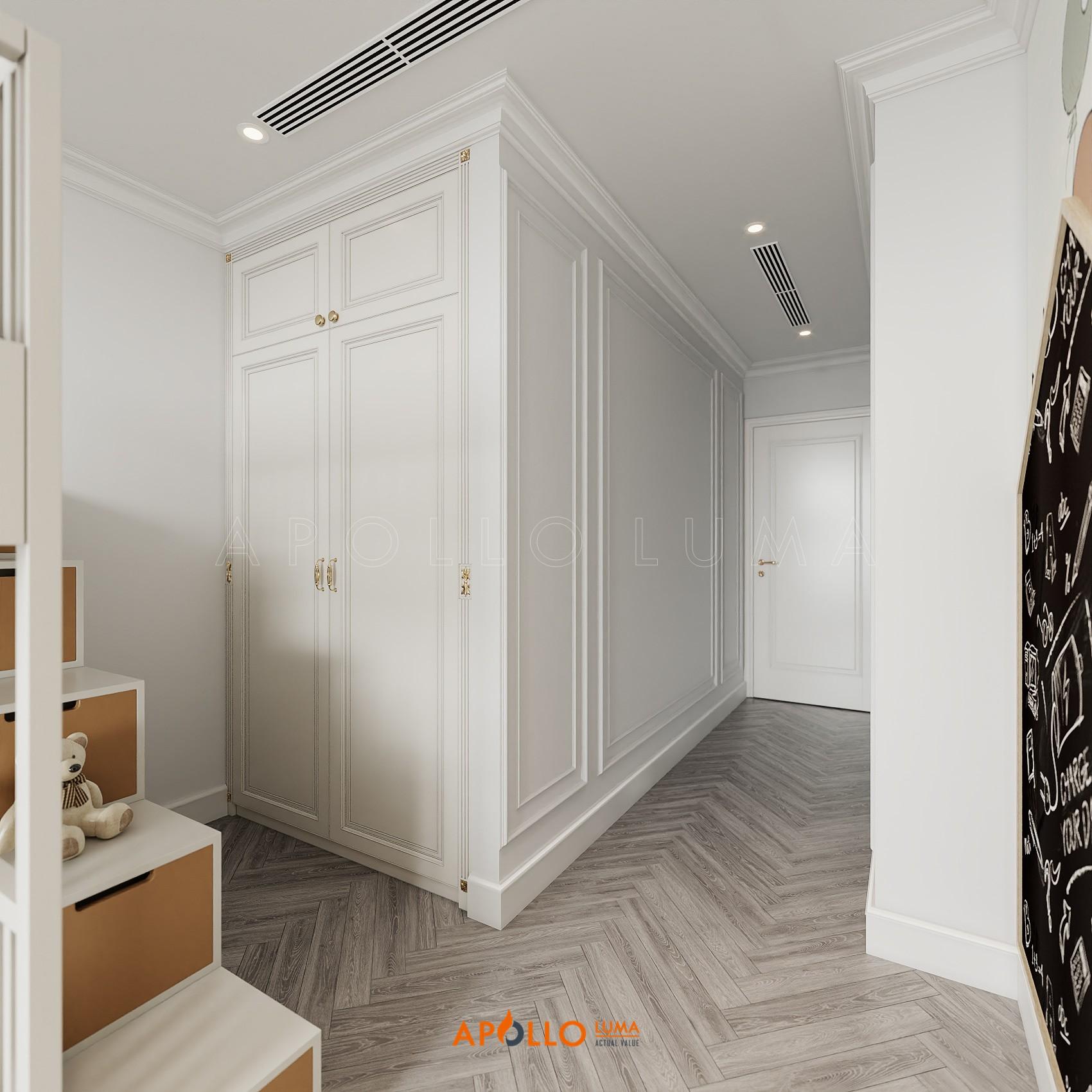 Thiết kế nội thất căn 3 phòng ngủ Vinhomes Metropolis phong cách Tân Cổ Điển