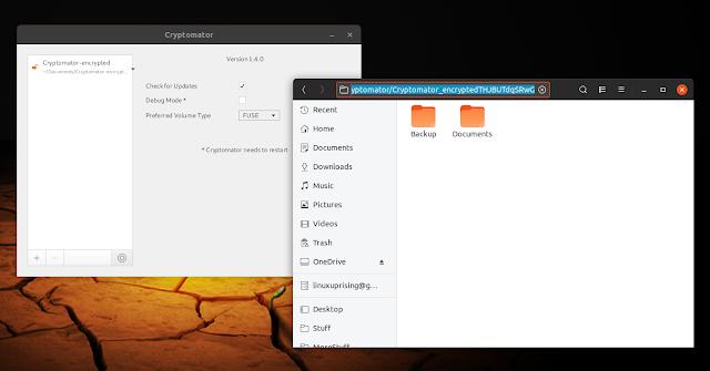 Cryptomator 1.4.0 FUSE Linux