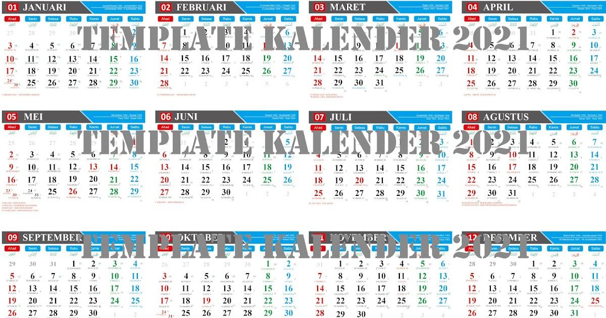 Desain Kalender 2021 Model 1 Format Cdr ~ BG IS BUNGO