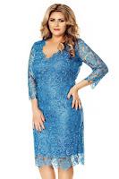 Rochie albastra Plus Size Arella • Miss Grey