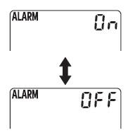 Cara Mengubah alarm antara ON dan OFF.