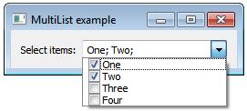 Developer notes: C++  Qt5 6  Combobox with checkboxes