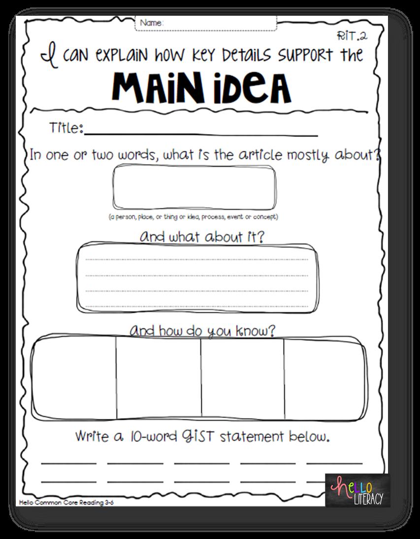 Worksheets Main Idea Worksheets 2nd Grade Free main idea worksheets for 1st grade free library re d g n ficti less s tes te ch