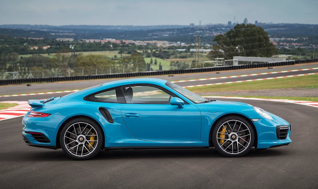 2017 Porsche 911 Turbo S blue