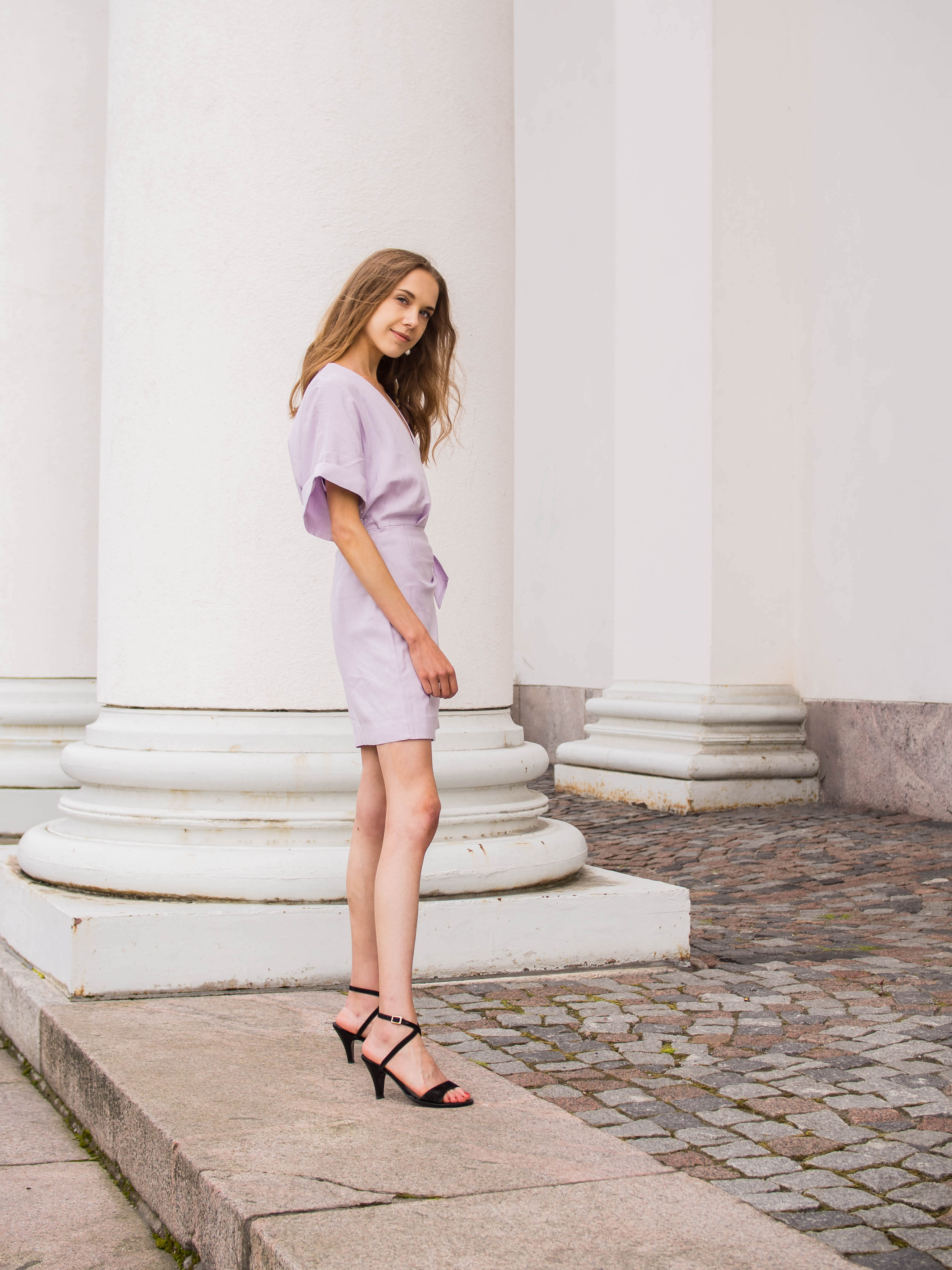 International Fashion Branding graduate, &Other Stories lilac mini wrap dress