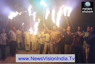 Congress Mashal Juluse Against Rapes Laherpur UP