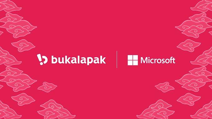 Microsoft Suntik Dana Ke Bukalapak Sebesar 1,4 Triliun Rupiah