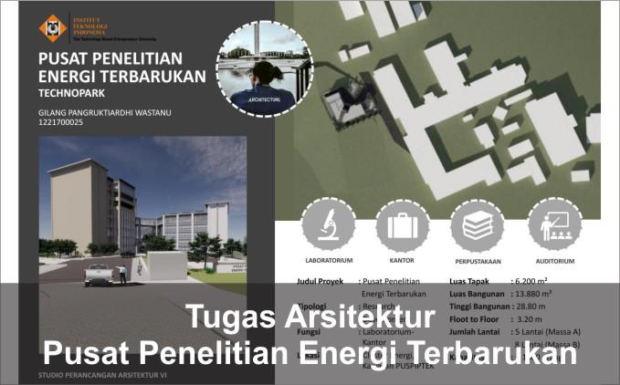 desain pusat teknologi terbarukan