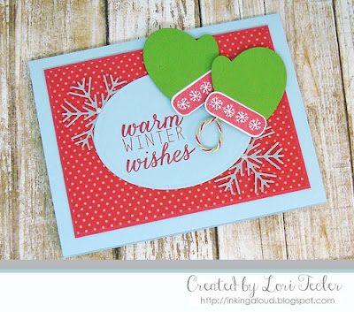 Warm Winter Wishes card-designed by Lori Tecler/Inking Aloud-stamps and dies from Reverse Confetti