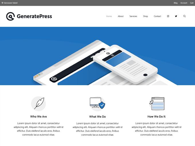 Latest v12.1.2 GeneratePress Premium Free Download