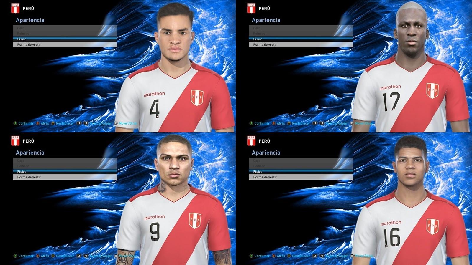 PES 2019 Facepack Peru National Team By Octavio Facemaker