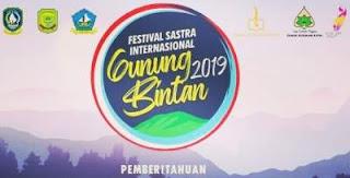 Undangan Puisi Festival Sastra Internasional Gunung Bintan 2019