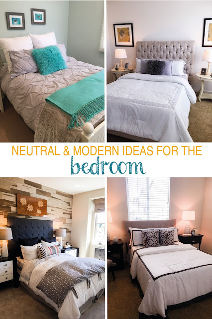 Clean and simple modern neutral bedrooms | sprinkledwithcolor.com