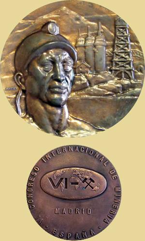 Medalla del Congreso Internacional de Minería Madrid 1970