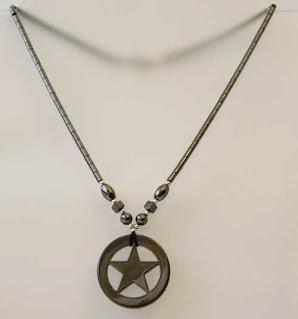 Hematite pentagram necklace