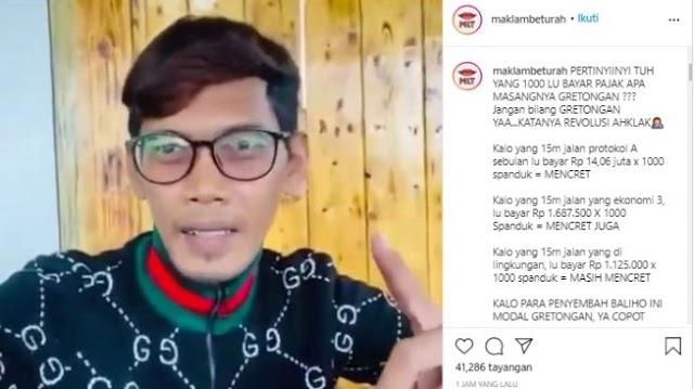 Viral Video Pria Getol Pasang Baliho Habib Rizieq: Lu Copot Gue Pasang Lagi