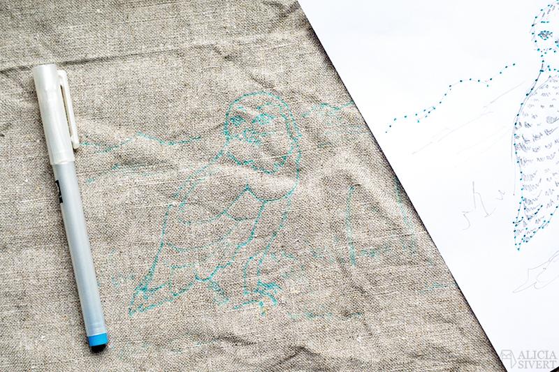aliciasivert alicia sivert sivertsson broderi prym aqua trickmarker vattenlöslig textilpenna textil penna broderi embroidery pen