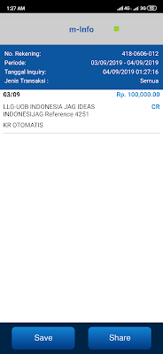 Bukti Pembayaran Uang Gratis dari Aplikasi JAG Android