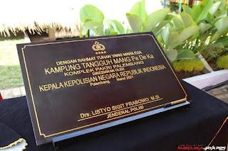 Kapolri Listyo Sigit Ke Palembang Resmikan Kampung Tangguh dan App Polisi Dulur Kito