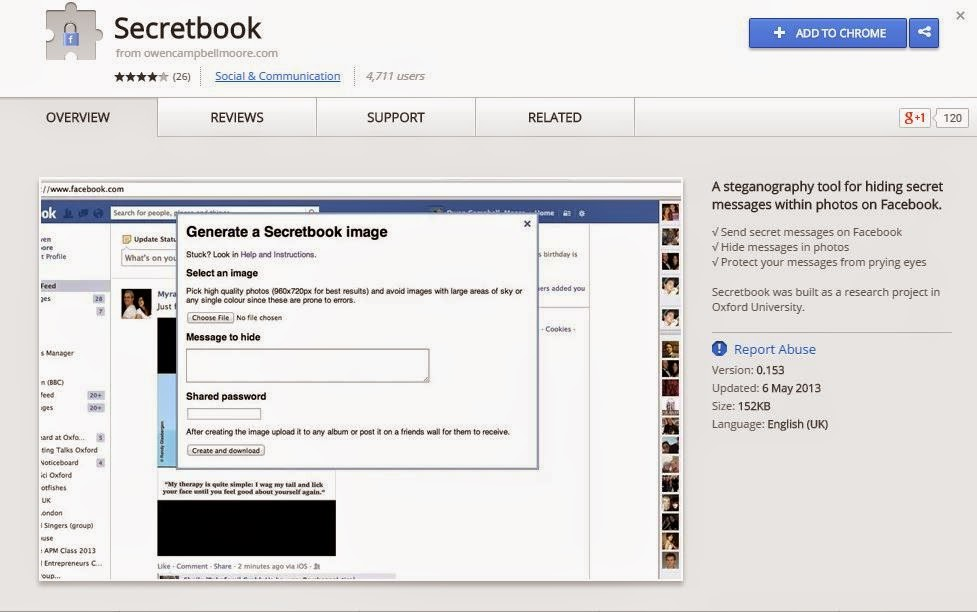 How to send photo on facebook with secret message to a friend