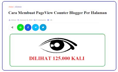 Background Cara Membuat PageView Counter Blogger Per Halaman